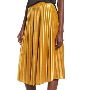 Chelsea28 Pleated Velvet Skirt